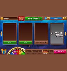 Lobby for slots games vector