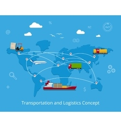 logistics and transportation concept vector image