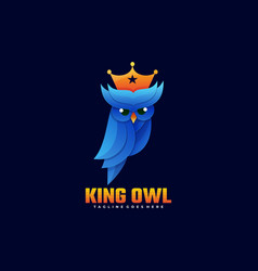 logo king owl gradient colorful style vector image