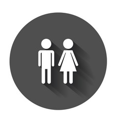 Man and woman icon modern flat pictogram simple vector