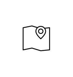 map location icon vector image