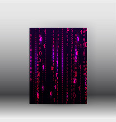 matrix style binary background poster and vector image