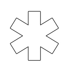 medical star of life vector image