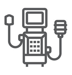 Medical ventilator line icon breathing and health vector