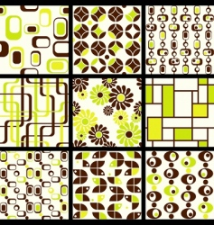 modern seamless patterns vector image