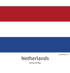 National flag of Netherlands with correct vector image