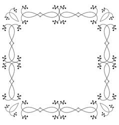 ornamental botanical frame isolated on white vector image