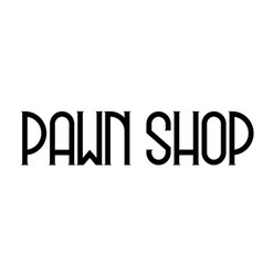 Pawn shop label vector