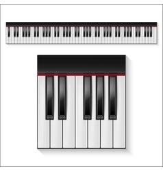 Piano keys set vector
