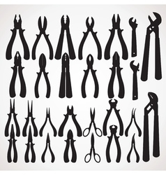 Pliers silhouette vector