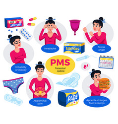 Premenstrual syndrome set vector