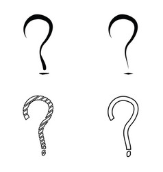Question mark sign icon set vector