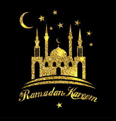 ramadan kareem or eid mubarak greeting background vector image