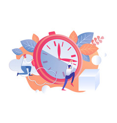 Rational staff time management vector