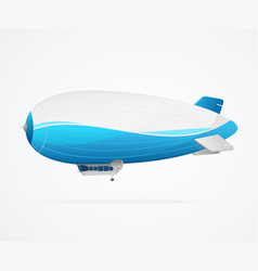realistic 3d detailed dirigible isolated on a vector image