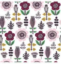 scandinavian style flower pattern vector image