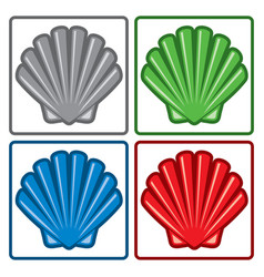 Sea shell icons vector