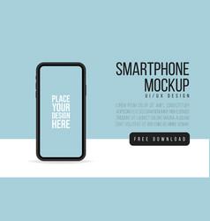 smartphone mock up banner flat smartphone blank vector image