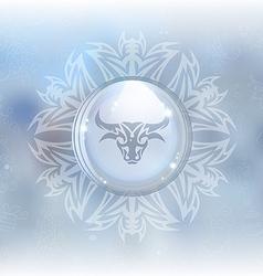 Snow globe with zodiac sign Taurus vector