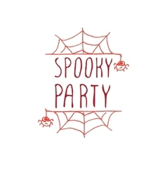 Spooky party - typographic element vector