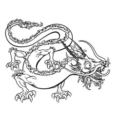 Stylised dragon vector