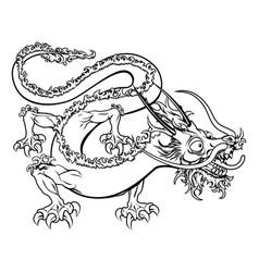 stylized dragon vector image