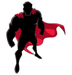 superhero from above silhouette vector image