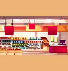 supermarket grocery food vector image