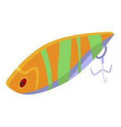 Tuna catching lure icon isometric style vector