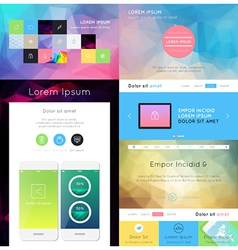 UI is a set of components featuring the flat desig vector image