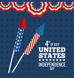 united states independence day celebration vector image