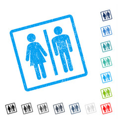 Wc persons icon rubber watermark vector