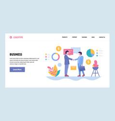 web site gradient design template business vector image