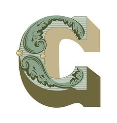western letter b vector image