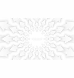 white 3d arrows vector image