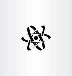 black nucleus logo symbol icon vector image