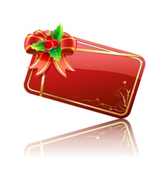 christmas gift card vector image vector image