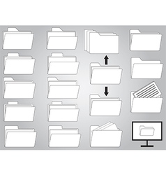 Folders and documents vector image