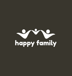 happy family logo template vector image vector image