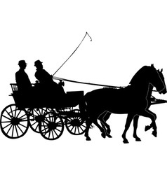 horse and carriage vs vector image
