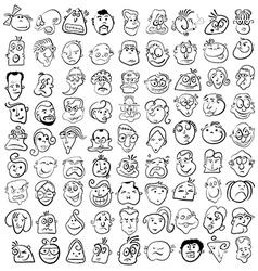 People face cartoon icon vector image