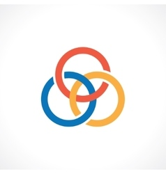 three rings vector image vector image
