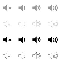 volume the black and grey color set icon vector image vector image