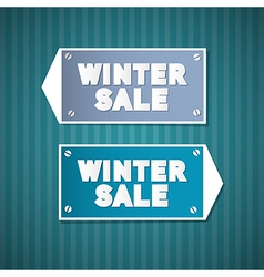 Winter Sale Retro Signs vector image
