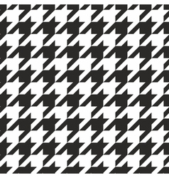 Houndstooth tile black and white pattern vector image vector image