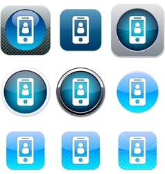 Person blue app icons vector image vector image