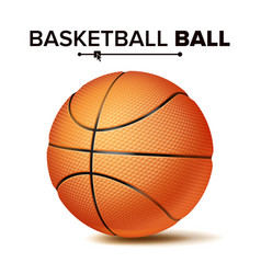 realistic basketball ball classic round vector image vector image
