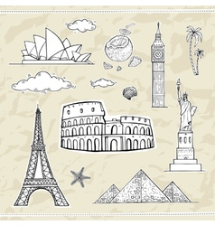 Travel and tourism labels collection vector image vector image