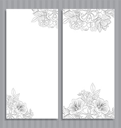 Wedding cards vector image vector image