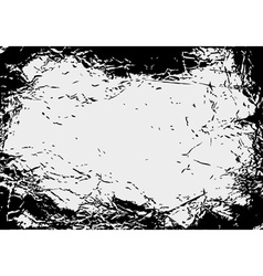 Black and white grungy background vector image